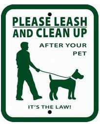 Dog Waste Station Sign - Please Leash and Clean Up After Your Pet