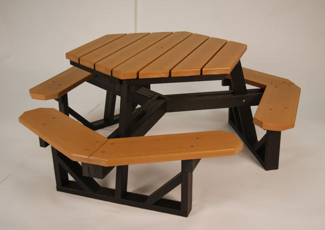 6 Recycled Hex Picnic Table Recycled Picnic Tables