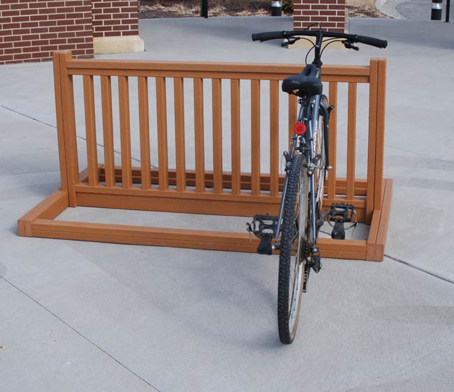 Recycled Bike Parking Rack