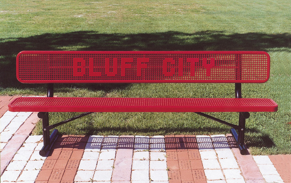 Custom Benches - Punched Lettering
