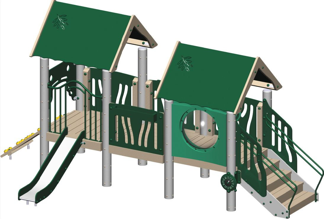Tot City Playground Structure