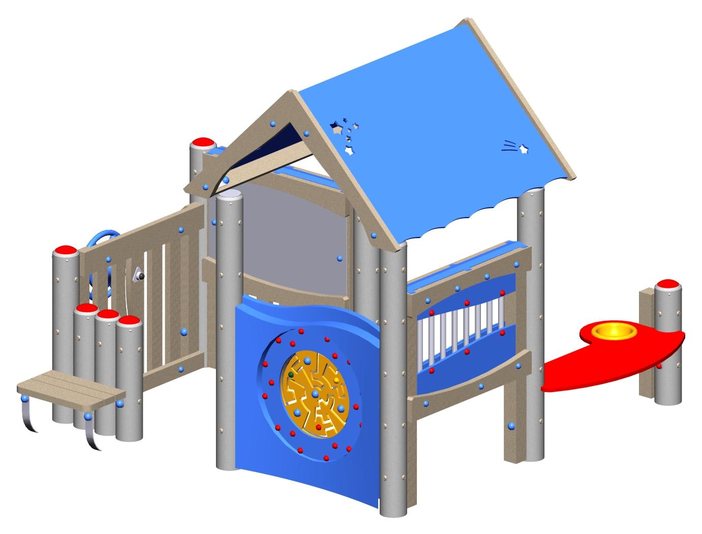Activity Playhouse (Metal & Plastic)
