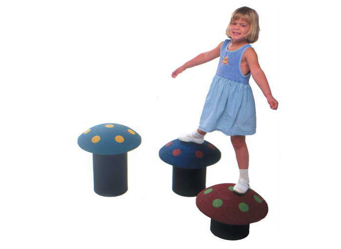 Rubber Playground Mushrooms