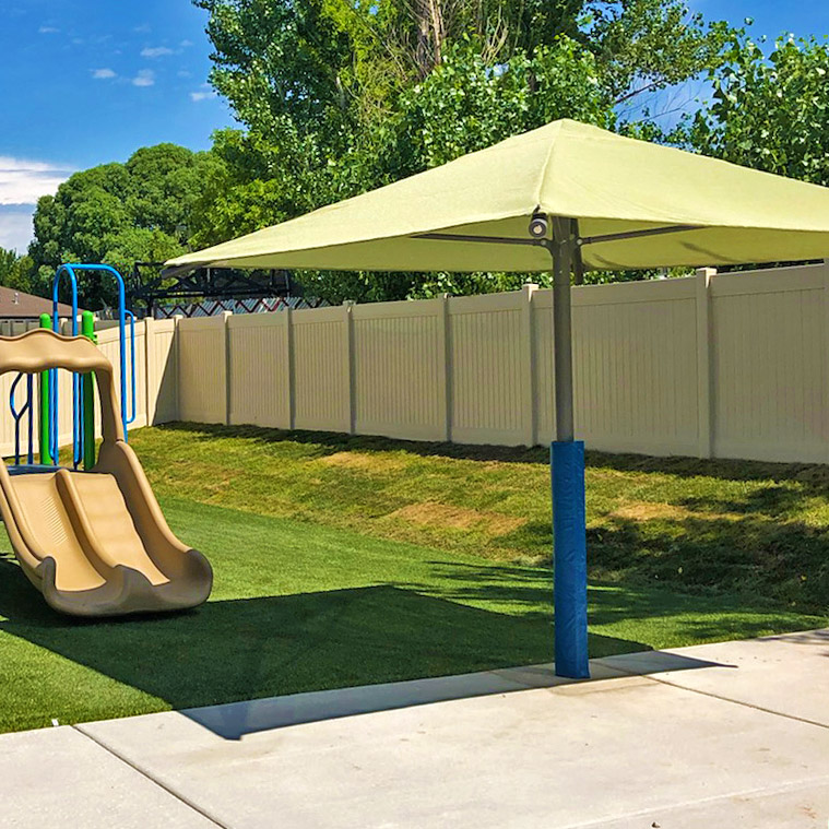 Single Post Square Shade Shade Structures