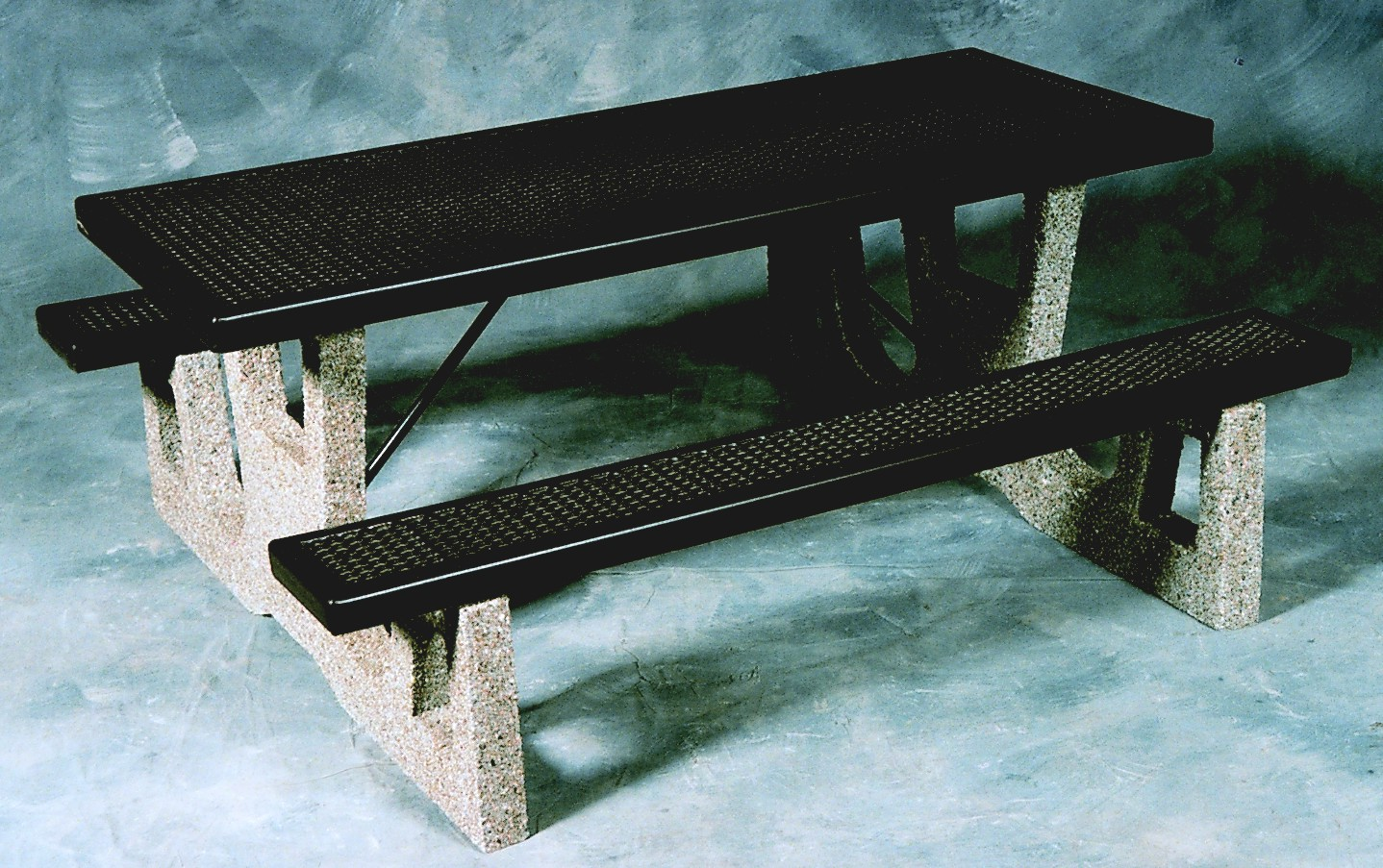 Mesh-Top Concrete Picnic Table