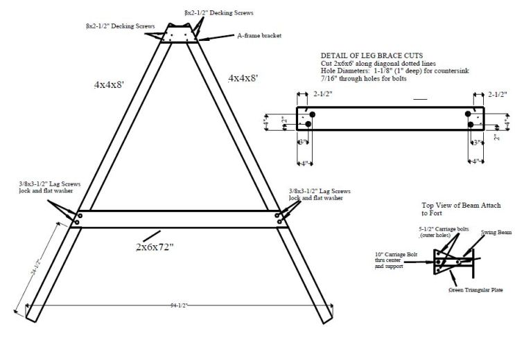 woodwork free wooden swing set blueprints pdf plans