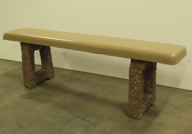 A-Frame Concrete Bench