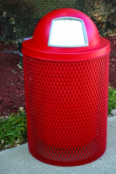 22 Gal. Diamond Trash Receptacle - WC Series