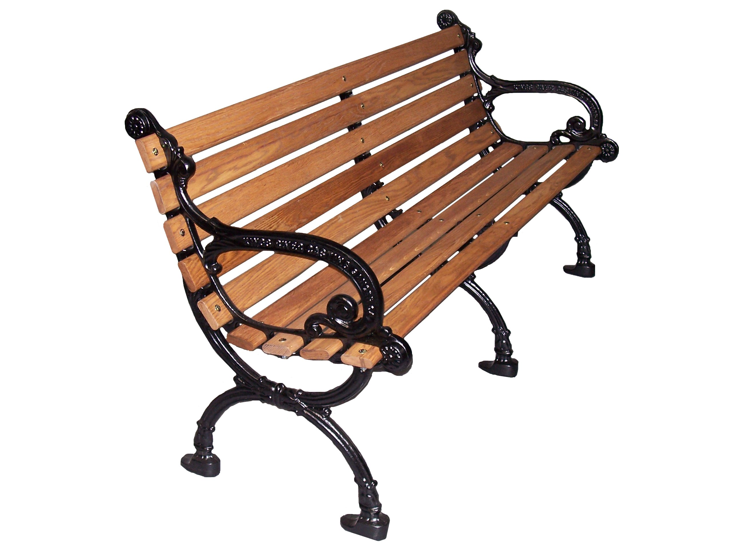 Wooden Park Benches ~ Elegant wooden park bench