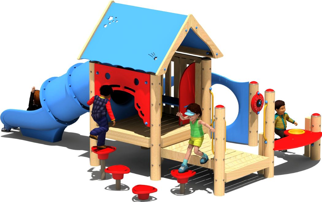 Hideaway Preschool Play Structure