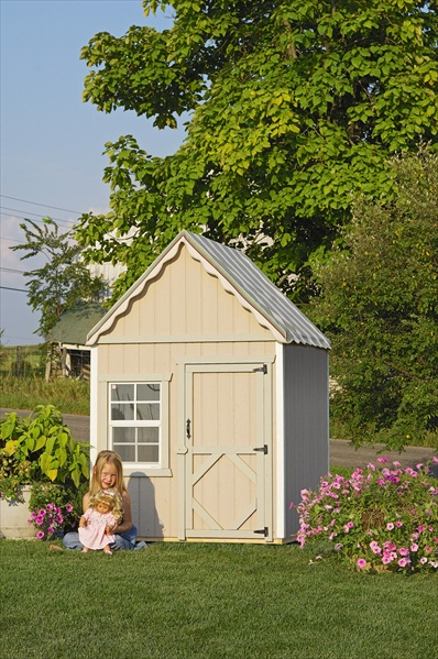 Small wooden playhouse