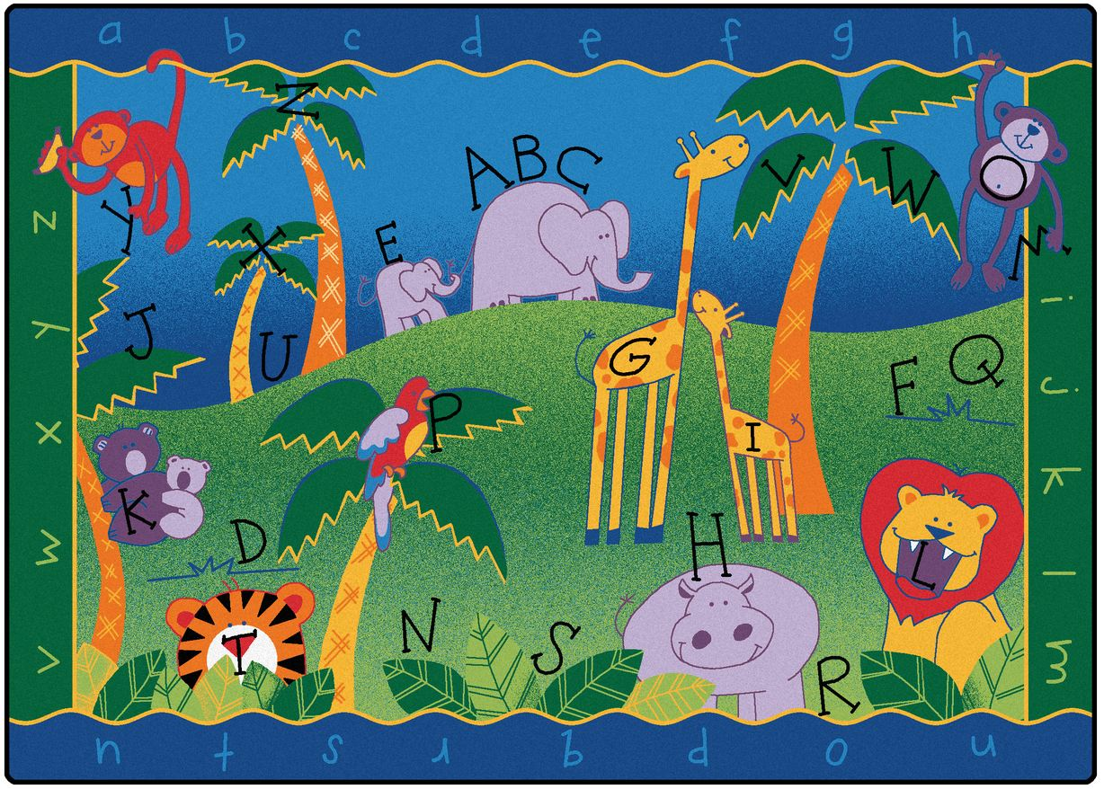 alphabet jungle classroom rug