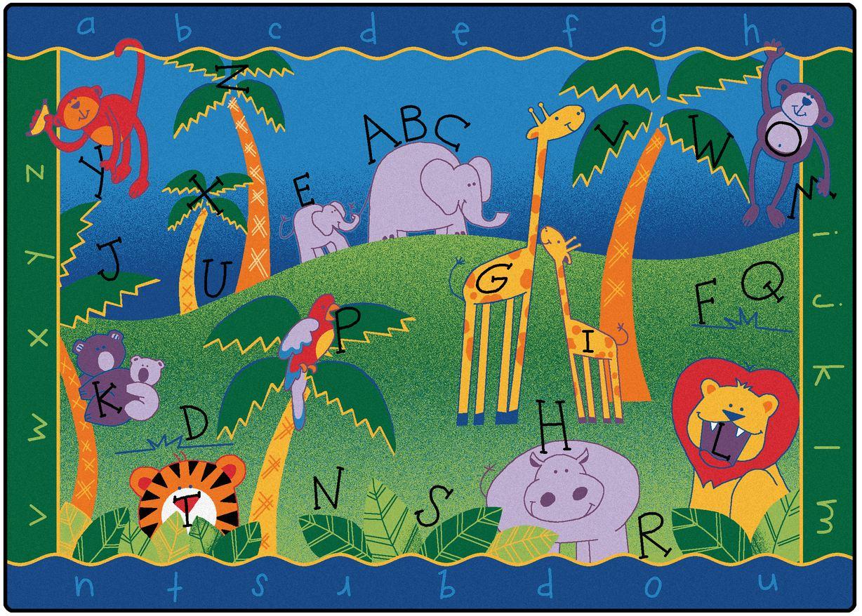 alphabet jungle classroom rug - Classroom Rug