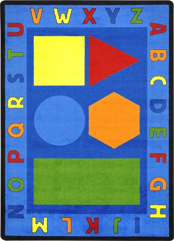 awesome Alphabet Rugs For Classrooms Part - 12: Alphabet Shapes Rug | Preschool Rugs | Classroom Rugs | ABC Rugs | Alphabet  Rugs