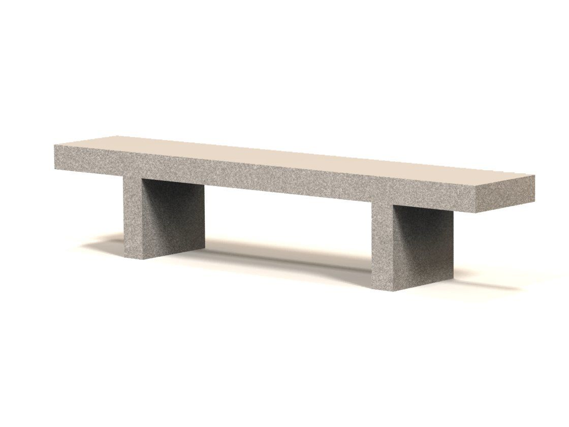 Miraculous 7 Backless Concrete Park Bench Concrete Park Benches Beatyapartments Chair Design Images Beatyapartmentscom