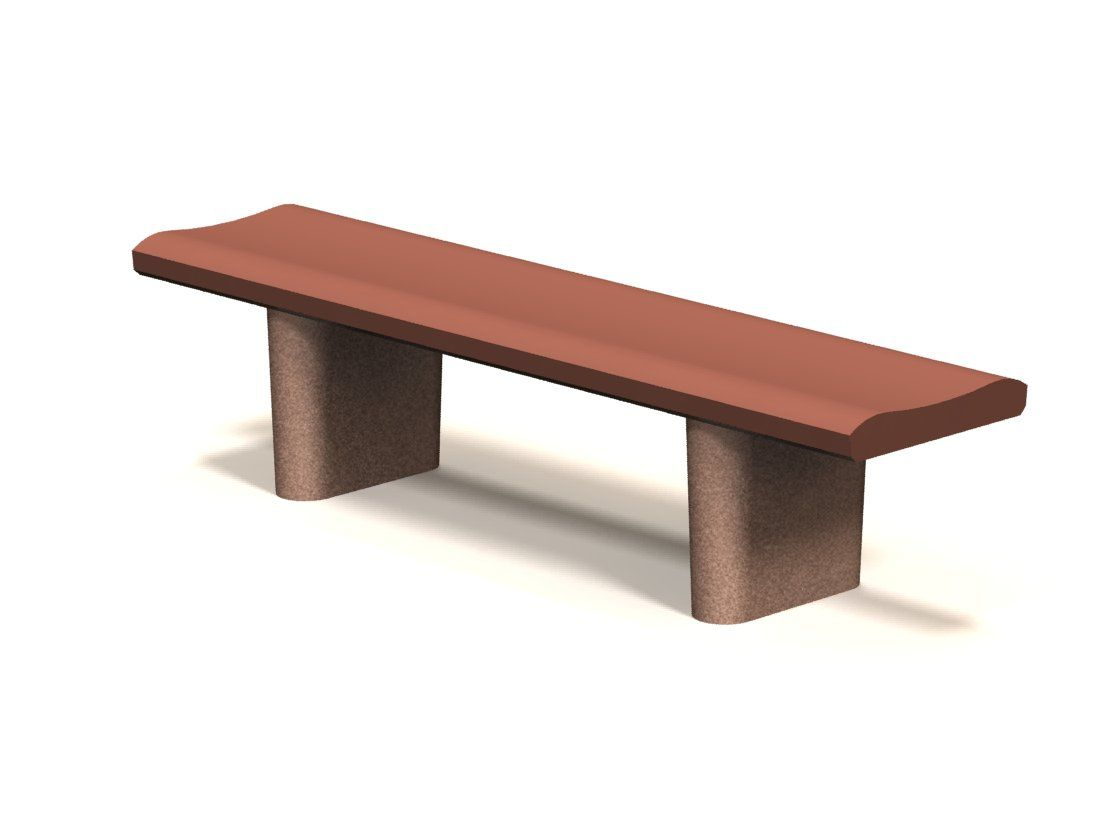 Picture of: 6 Backless Concrete Bench W Curved Seat Concrete Benches