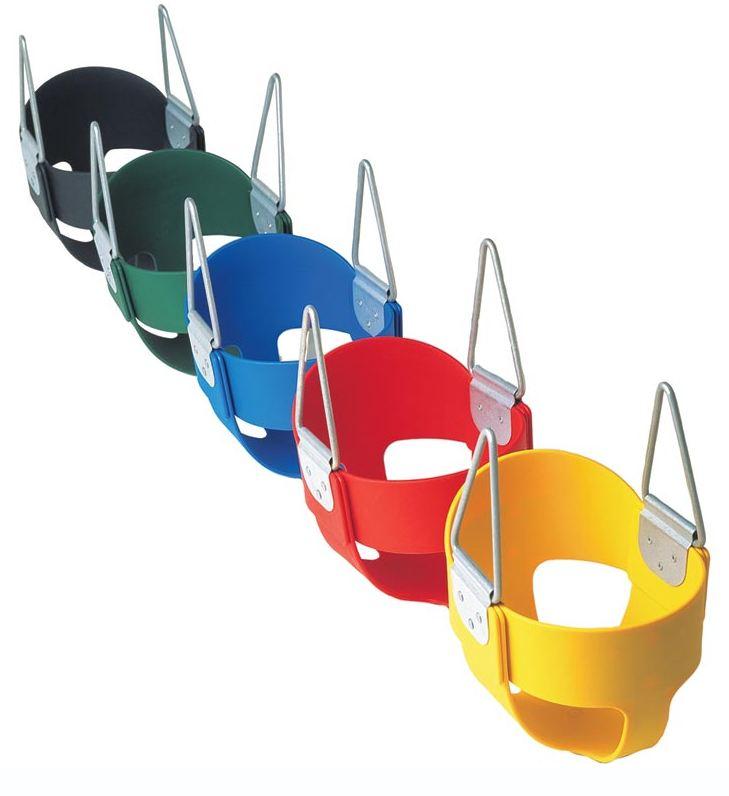 High back full bucket toddler swing seat