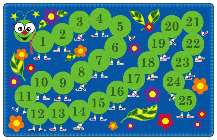 Counting Caterpillar Rug | Preschool Rugs | Classroom Rugs
