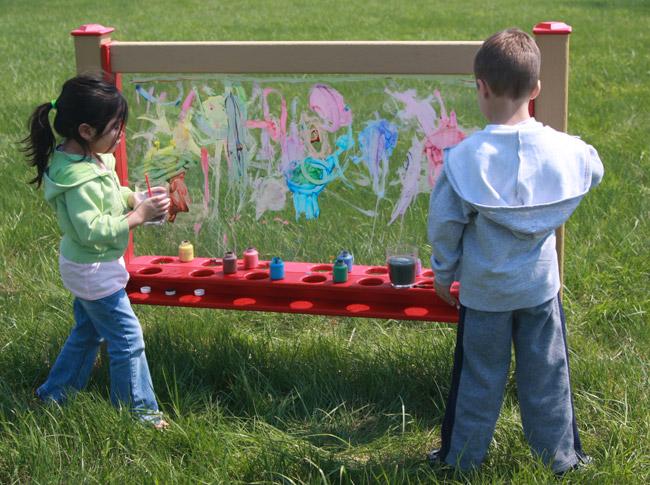 Paint Panel Wall, Portable, Inground