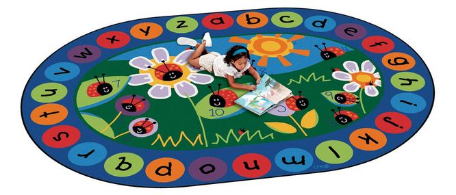 ladybug circle time rug | circletime rugs | seating rugs