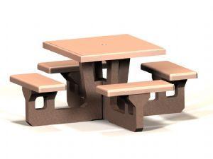 Concrete Square Table