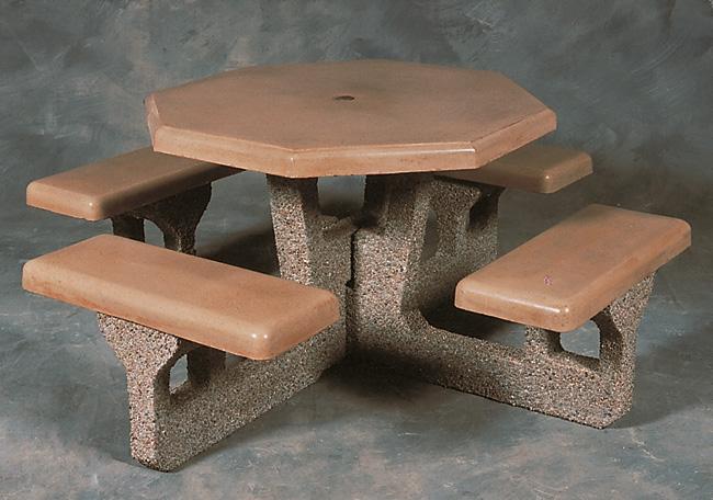 Concrete Octagon Table