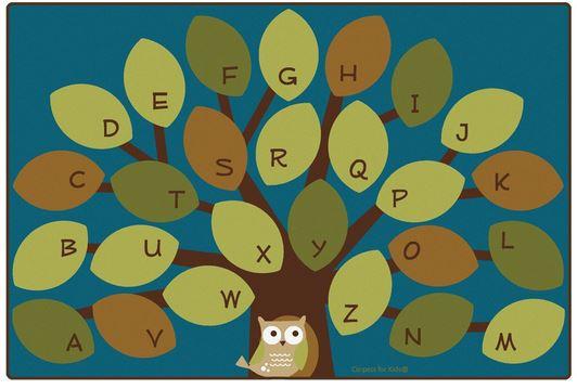 owlphabet tree classroom rug - Classroom Rug