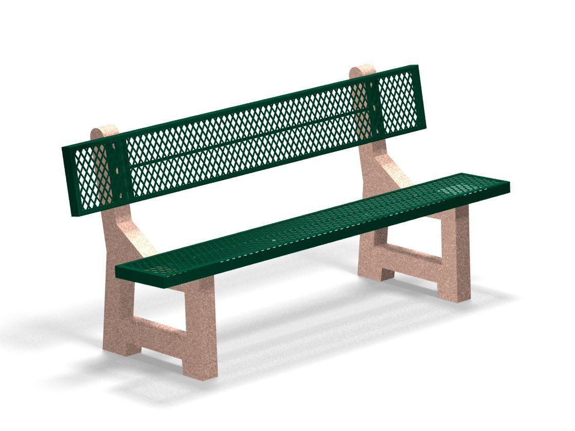 6' bench - hunter green