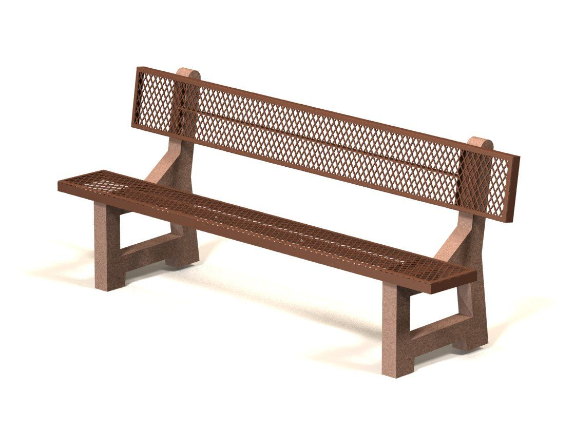 7' bench - brown