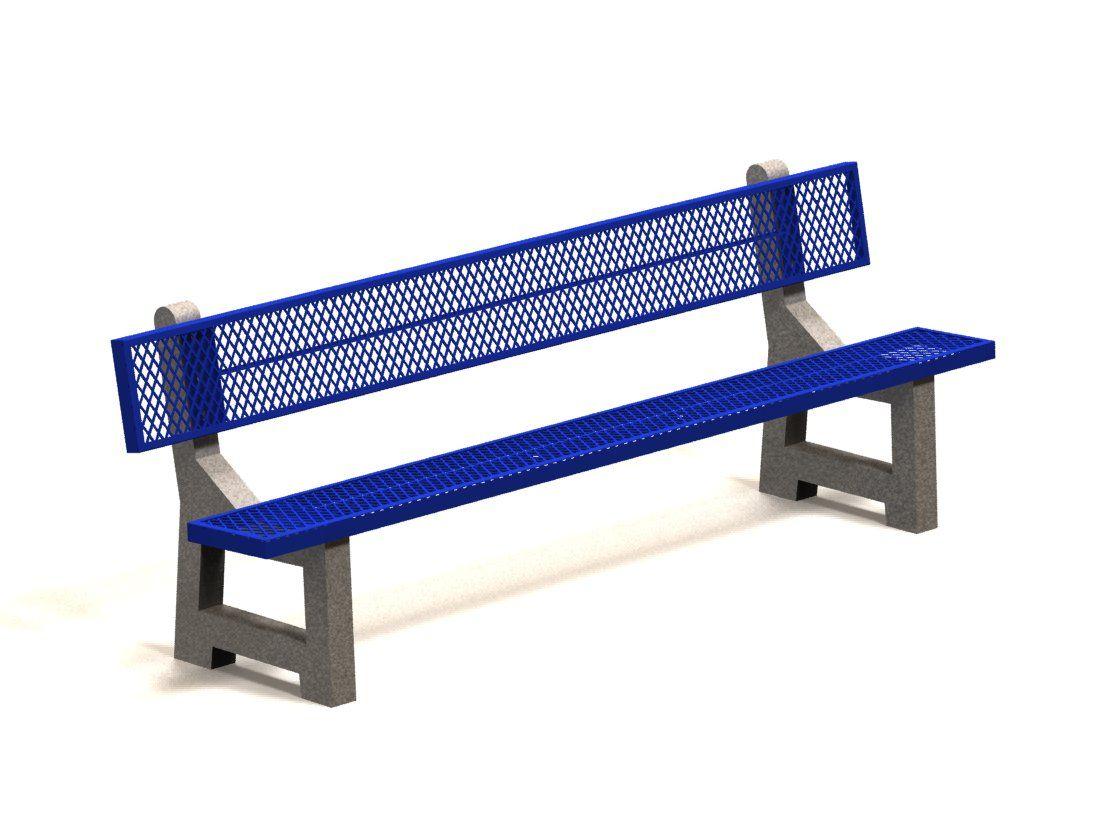 8' bench - blue