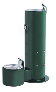 Drinking Fountain with Pet Attachment