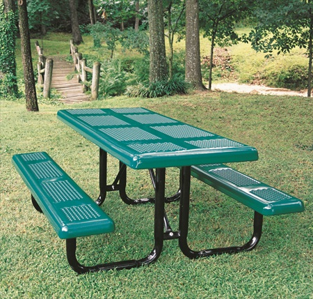 8' Perforated Portable Picnic Table