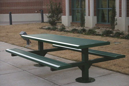 8' Rectangle Pedestal Picnic Table