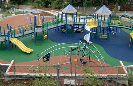 Rubber Playground Surface Poured-in-Place