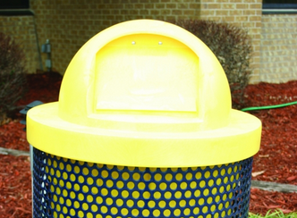Yellow Plastic Round Dome Top - WC Series