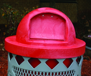 Red Plastic Round Dome Top - WC Series