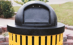Black Plastic Round Dome Top - WC Series