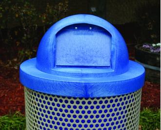 Blue Plastic Round Dome Top - WC Series