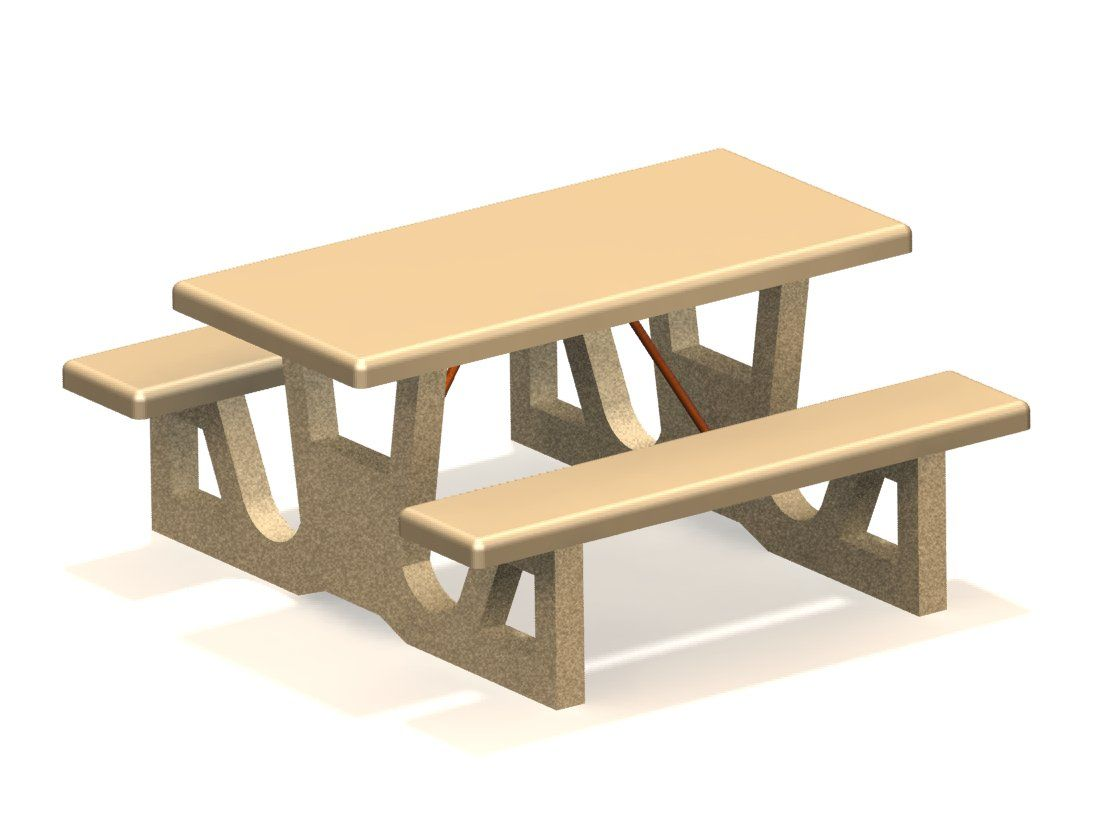 Concrete Picnic Table Forms - Concrete picnic table forms
