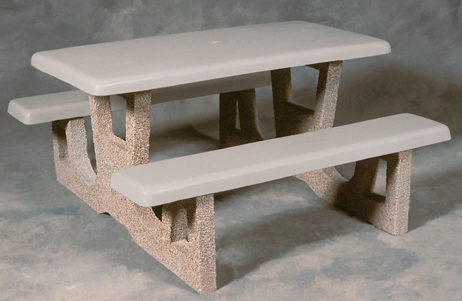 Traditional Concrete Picnic Table