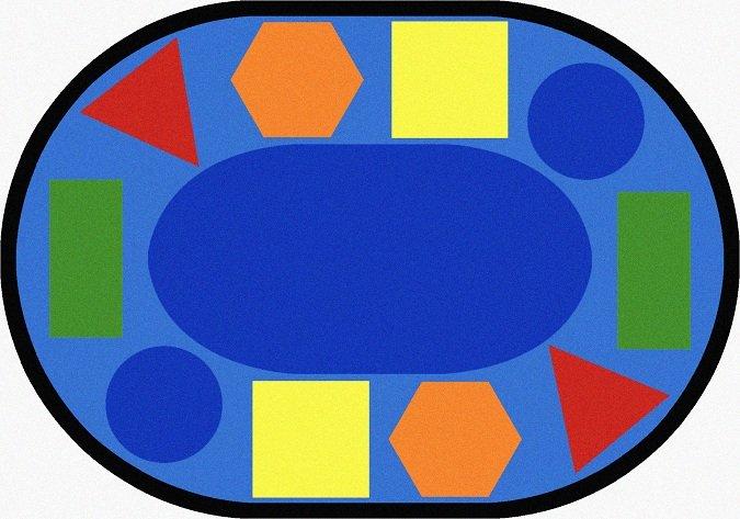 Sitting Shapes Carpet Oval