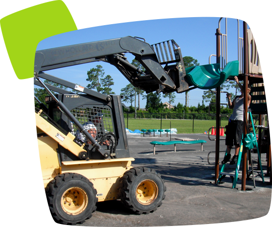 commercial playground equipment installation